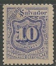 El Salvador || Scott # J37 - MH ©