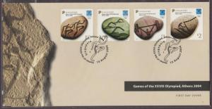 Singapore 2004 Games of the XXVIII Olympiad Athens FDC SG#1433-1436
