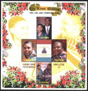 Lesotho. 2000. Small sheet 1607-10. King of Lesotho. MNH.