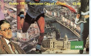 IRELAND  DUBLIN EUROPEAN CITY OF CULTURE COMPLETE UNEXPLODED BOOKLET  MINT NH