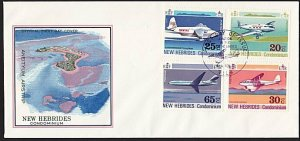 NEW HEBRIDES FRENCH 1972 Planes commem FDC - special pmk...................68376