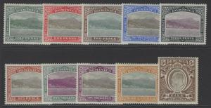 DOMINICA SG27/36 1903-7 DEFINITIVE SET MTD MINT