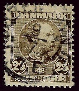 Denmark SC#67 Used F-VF...Beautiful Denmark!