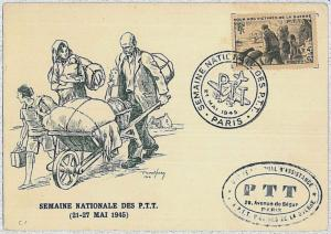 37253   MAXIMUM CARD  - FRANCE : victimes de guerre - MILITARY - WAR 1945