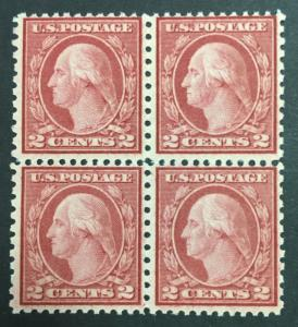 MOMEN: US STAMPS #540 MINT OG NH BLOCK