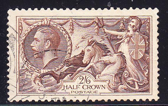Great Britain KGV 2/6 Britannia 1934  VF/Used