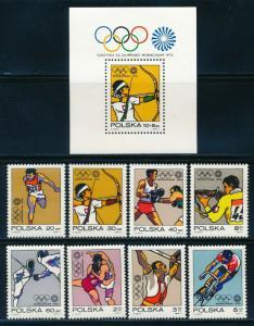 Poland - Munich Olympic Games MNH Set #1878-85 (1972)