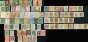 Early CUBA Postage Stamp Collection Spanish Dominion 1855-1888 Used Mint LH