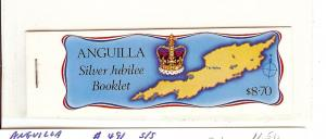 Anguilla, 271-74, Silver Jubilee 1977Complete Booklet, MNH