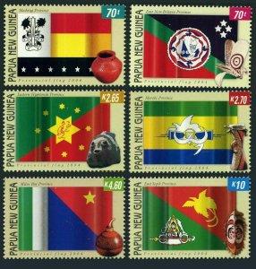 Papua New Guinea 1142-1147,MNH. Provincial flags,2004.