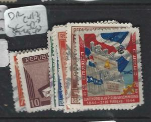 DOMINICAN REPUBLIC  (PP0606B)  SC  C41-2, 47-8. 54-6   VFU