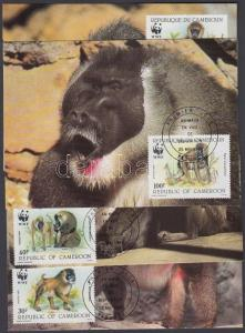 Cameroon stamp 1988 WWF Drills set Mi 1155-1158 4 CM WS136521