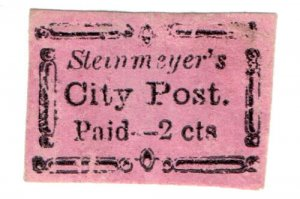 (I.B) US Local Post : Steinmeyer's City Post 2c