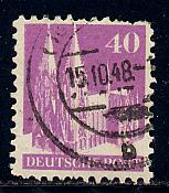 Germany Deutsche Post Scott # 651, used, variation wmk