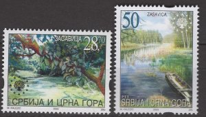 Serbia; 2003: Sc. # 192-193: **/MNH Single Stamp