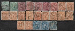 COLLECTION LOT OF 23 ITALY 1879 STAMPS CLEARANCE CV+ $50