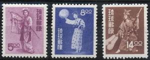 Ryukyu Islands 36-38 MNH (1956)