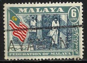 Malaya 1957 Scott# 80 Used