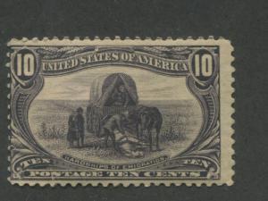 1898 US Stamp #290 10c Mint Hinged Average Original Gum Catalogue Value $145