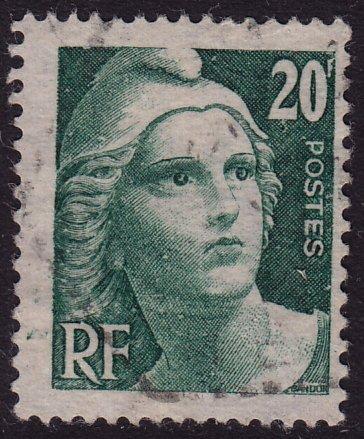 France - 1946 - Scott #551 - used - Marianne