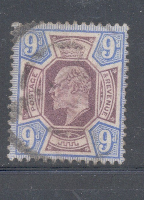 Great Britain Sc 136 1902 9d ultra & dull violet Edward VII stamp used