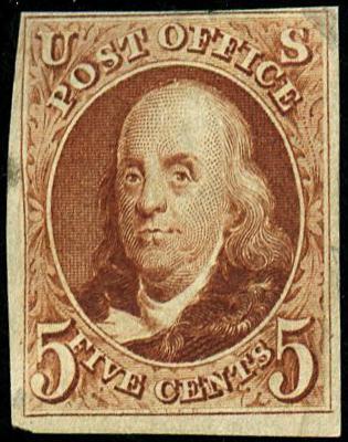 U.S. #3 1875 Reissue Of 1847