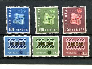 Portugal  Europa 1961 and 1962 Mint VF NH