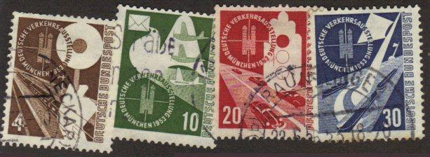Germany #698-701 used transport