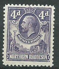 Northern Rhodesia  SG 6 Mint Hinged