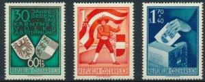 [67] Austria 1950 ELECTIONS Good set of stamps very fine MNH value $196