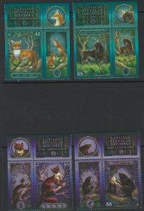 Latvia Scott 659-660 Wild Animals! MNH!