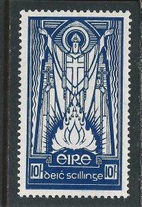 IRELAND 1937 10s DEEP BLUE MM SG 104 CAT £160