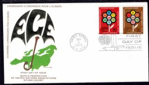 UN New York 231 Joint Issue WFUNA U/A FDC