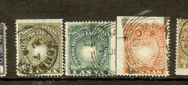 BRITISH EAST AFRICA (P1210B) SUN  SG4-6   VFU