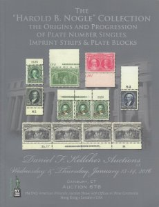 Harold B. Nogle Collection Plate Number Singles, Strips & Plate Blocks. 2016 cat