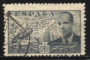 Spain Air Mail 1941 Scott# C115 Used