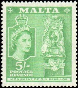 Malta #260, Incomplete Set, 1956-1957, Hinged