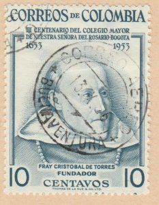 Colombia 1954 10c Fine Used A8P52F54