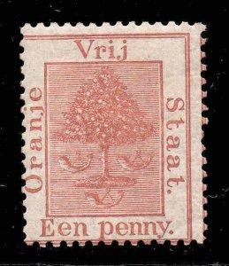 Orange Free State 1868 1d red-brown SG 2 mint CV