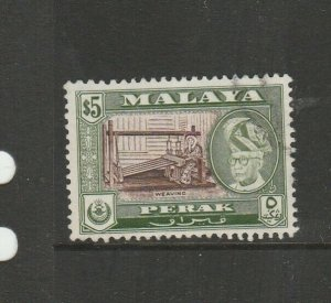 Malaya Perak 1957/61 $5 P12.5 FU SG 161