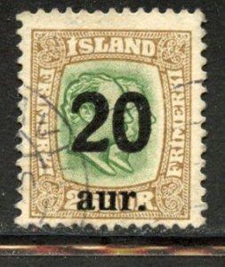 Iceland # 133, Used. CV $ 8.50