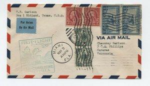 1930 Miami CZ flight cover 2x C4, others, to Venezuela [y5075]
