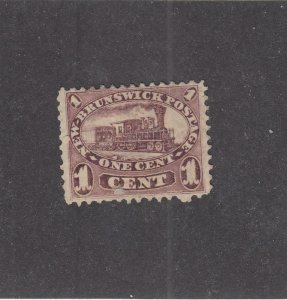 NEW BRUNSWICK (MK3929) # 6  FVF-MH  1cts 1860 LOCOMOTIVE / RED LILAC CAT VAL $40