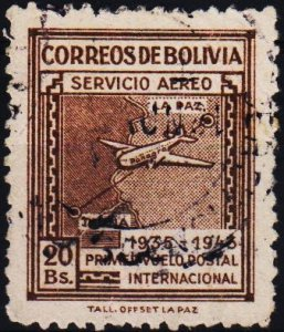 Bolivia. 1945 20b S.G.437 Fine Used