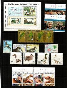 Norfolk Island Mint NH sets (Catalog Value $47.90)