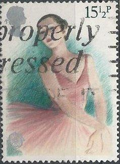 Great Britain 987 (used) 15½p ballet (1982)