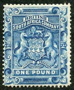 Rhodesia SG10 One Pound Deep Blue M/Mint