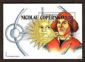 Brazil Sc 1301 MNH. 1973 Copernicus & Sun Souvenir Sheet, VF