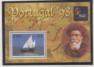 Ireland Sc 1145 1998 £2 Tall Ship Portugal '98 stamp sheet mint NH