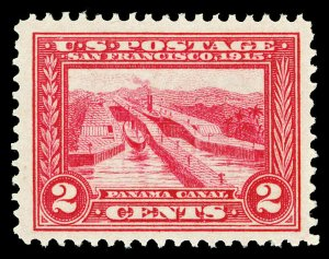 Scott 398 1913 2c Panama-Pacific Perforated 12 Issue Mint F-VF OG NH Cat $35